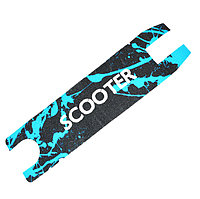 Наклейка для трюковых самокатов самоклеющаяся наждачная бумага Scooter с синим узором