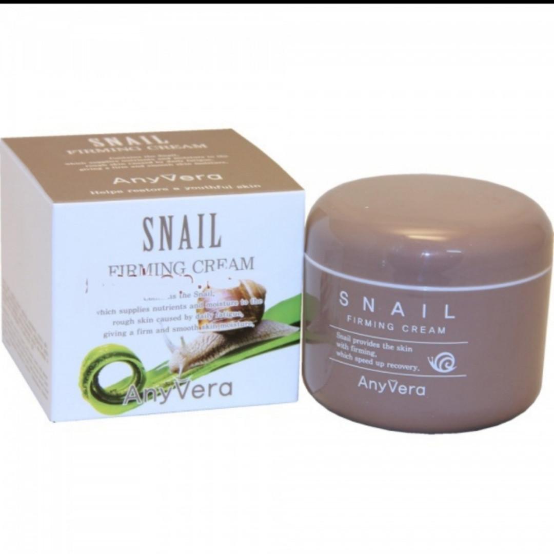 Подтягивающий лифтинг крем для лица с Улиточным муцином, для всех типов кожи  Cellio AnyVera Snail 100 мл