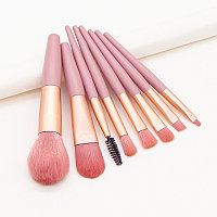 Кисти для макияжа розовые, набор из 8 штук