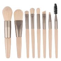 Кисти для макияжа кремовые, набор из 8 штук