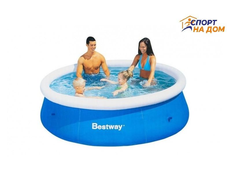 Большой надувной бассейн Bestway 57265 (Габариты: 244 х 66 см, на  2300 литров)