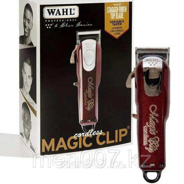 """Машинка """"Wahl - Cordless Magic Clip Five Star"""" рабочая, регулируемый нож, 8 насадок, LI-ION АККУМУЛЯТОРЫ"""