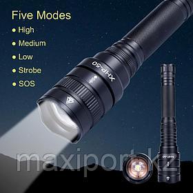 Мощный тактический фонарь HXP50 Влагозащищенный 25W
