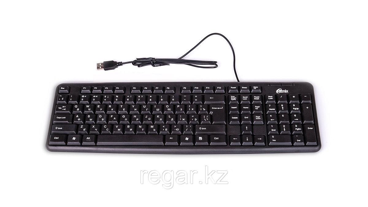 Клавиатура проводная Ritmix RKB-103 черный
