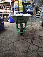 Тачка садовая 1-колесная, усиленная, серая, цельнорезин. колесо, грузоподъемность 80кг, объем 78л/ ЭКСПЕРТ