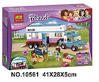 Конструктор Bela Friends Ветеринарная машина для лошадок 10561 (аналог Lego Friends 41125)