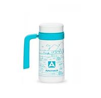 Кружка-термос ARCTICA с ручкой (0,5л)(8ч)(ситичко)(металл)-белый
