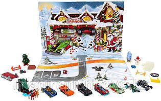 Hot Wheels рождественский набор Адвент Календарь