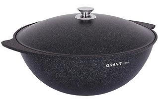 """Казан 7 литров """"Granit ultra"""" (blue) с каменным антипригарным покрытием"""