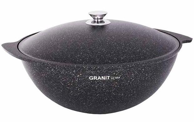 """Казан 9 литров """"Granit ultra"""" с каменным антипригарным покрытием"""