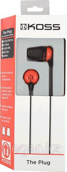 Наушники-вкладыши проводные Koss The Plug красный