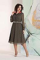 Женское осеннее шифоновое зеленое нарядное платье Avanti Erika 1061-1 48р.