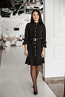 Женское осеннее черное нарядное платье MadameRita 1180 46р.