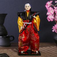 Кукла коллекционная 'Воин в ярком кимоно с саблей' 30х12,5х12,5 см