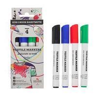 Маркер для ткани 4 цвета, Koh-I-Noor 3205 5.0 мм, длина письма 400 м, пакет, европодвес