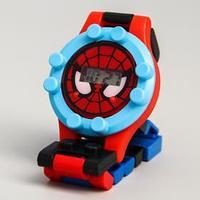 Часы наручные лего, Человек-паук, с ремешком-конструктором