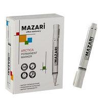 Маркер перманентный Mazari Arcticа, 2.0 мм, белый, перезаправляемый (комплект из 12 шт.)