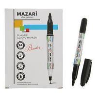 Mаркер Mazari Binatex для CD/DVD, 2.0 мм, чёрный, двусторонний (комплект из 24 шт.)