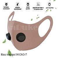 Многоразовая маска с защитой от холода и пыли с 2 респираторами Fashion mask светло-розовый