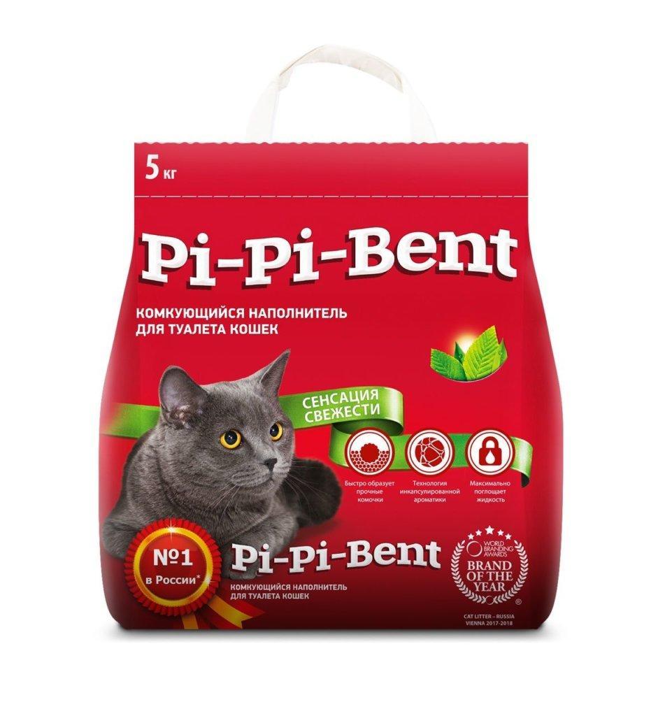Без запаха, 12л., комкующийся бентонитовый наполнитель Pi-Pi Bent