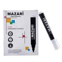 Маркер перманентный Mazari FARO, 2.0 мм, чёрный (комплект из 12 шт.)