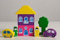 Цветной городок фиолетовый, 8 деталей, фото 1