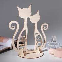 Подставка для украшений 'Коты' 23*16*0,3, толщина 3мм, цвет бежевый