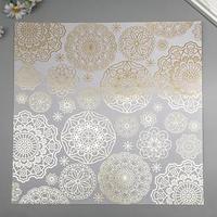 Лист бумаги с фольгированием 'Golden Napkins Gray' 30,5х30,5 см (комплект из 10 шт.)