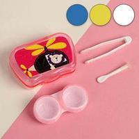 Набор для контактных линз 'Мультяшка', 3 предмета, в футляре с зеркалом, цвет МИКС