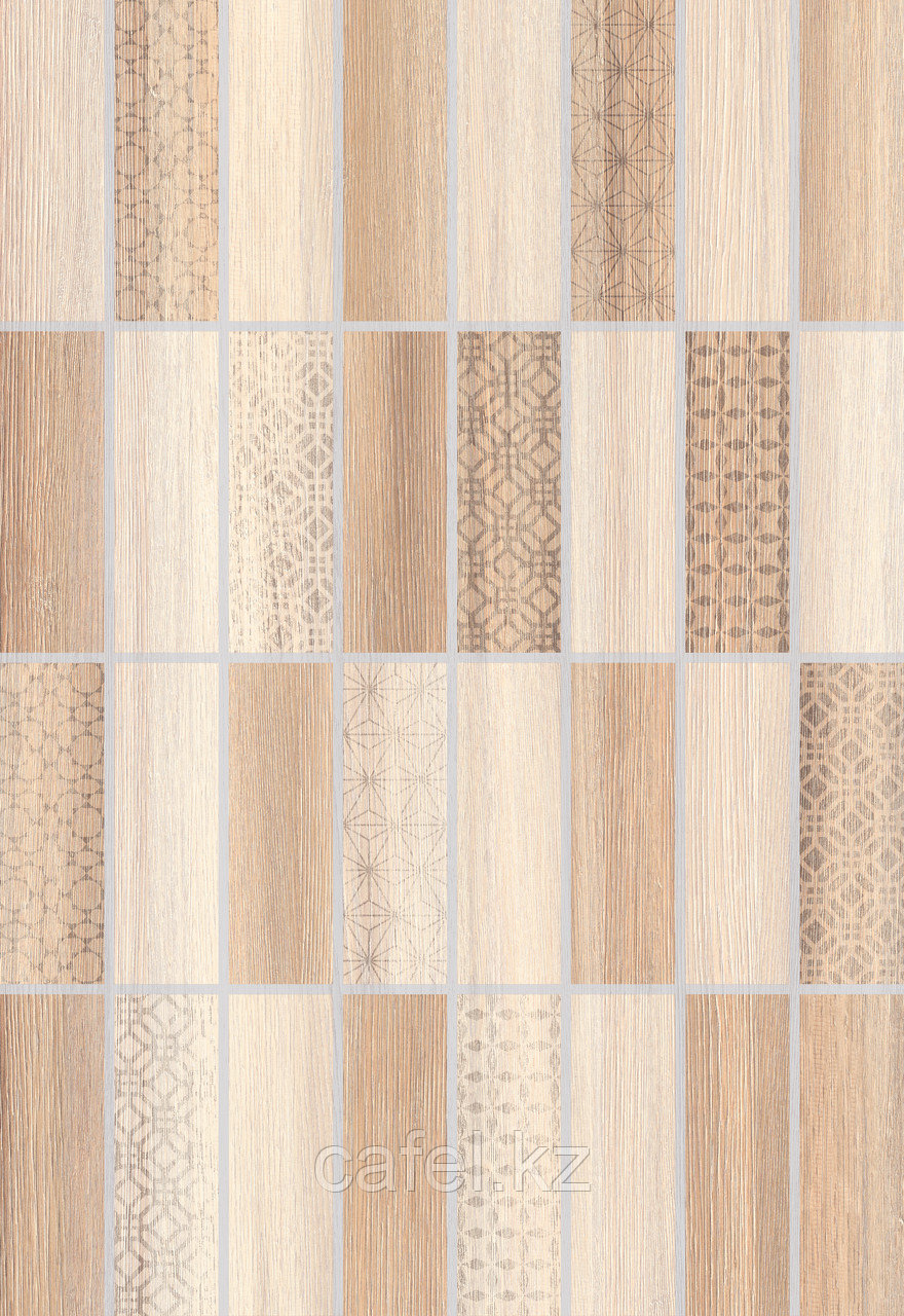 Кафель | Плитка настенная 28х40 Нидвуд | Nidwood 3Д бежевый