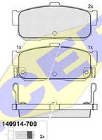 Тормозные колодки REMSA 366.02-AF