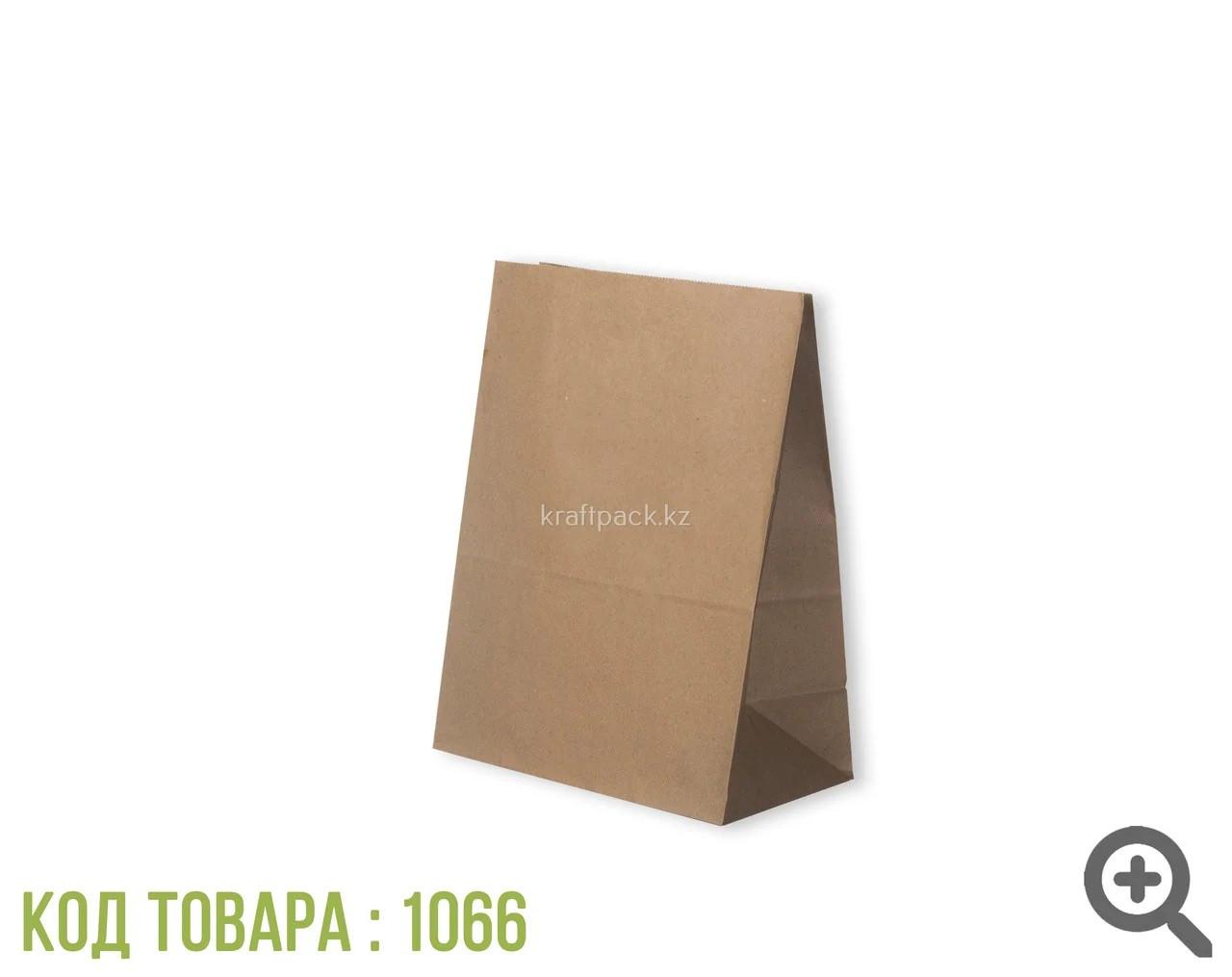 Бумажный крафт пакет, бурый 50гр 220*120*290 (1000шт/уп)