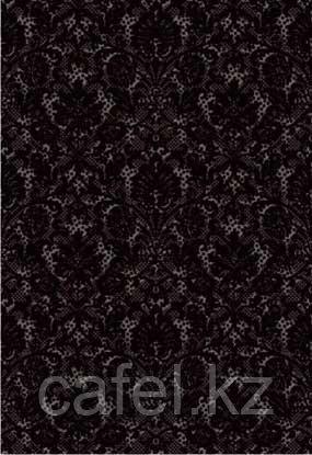 Кафель | Плитка настенная 28х40 Органза | Organza черный 5Т