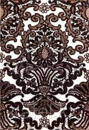 Кафель | Плитка настенная 28х40 Органза | Organza черный 5 панно