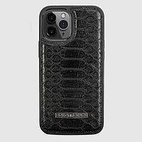 Чехол для телефона iPhone 12 Pro Max питон чёрный