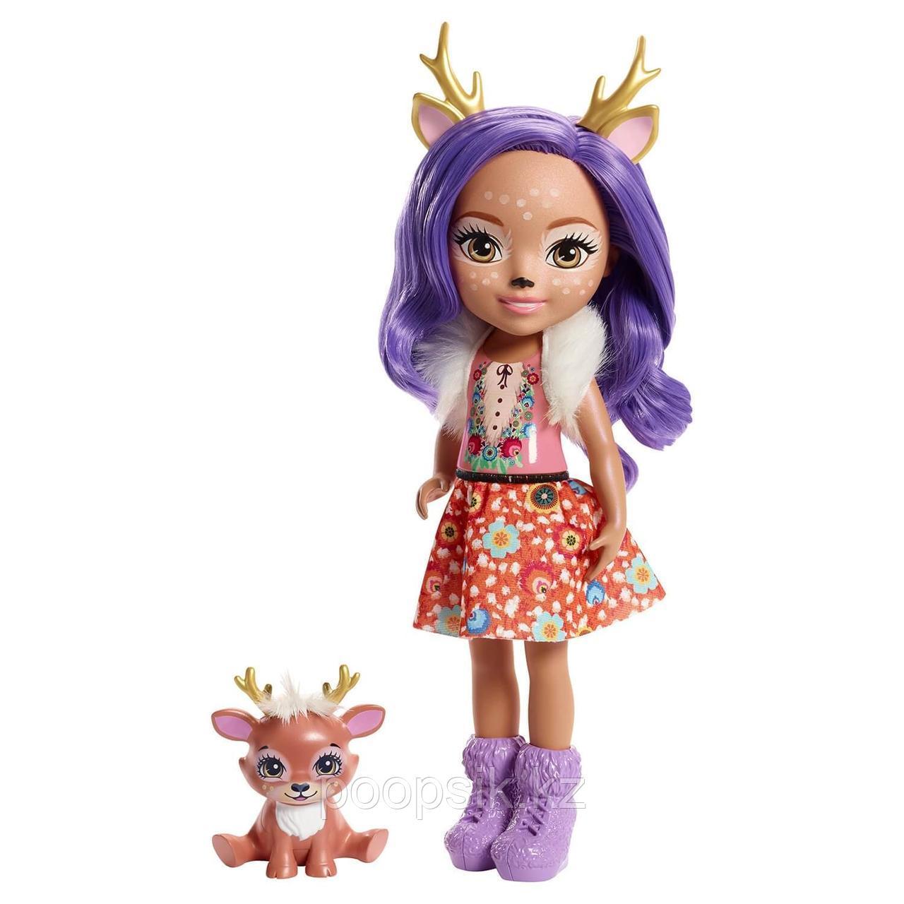 Enchantimals Данесса Олени большая кукла с питомцем FRH51 - фото 2
