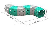Детский игровой Тоннель Doloni серо/бирюзовый