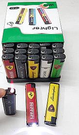 Зажигалка Турбо фонарь пьеза  Сигареты,машинки,разные №827 (4 вида)