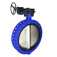 Затвор поворотный дисковый межфланцевый редукторный 300 мм