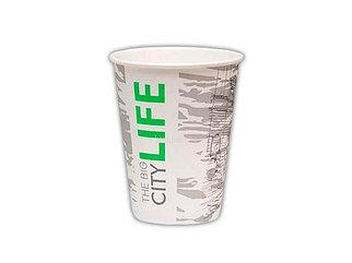 Стакан бумажный для горячих/ холодных напитков  Big City Life 350мл (12 OZ / D90) (50/1000)