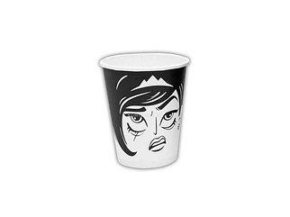 Стакан бумажный для горячих/холодных напитков Лица (8 OZ) 250мл (50/1000)