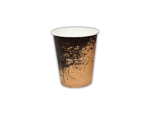Стакан бумажный для горячих/холодных напитков Крафт Гранж 250 мл (8 OZ / D80) (50/1000)
