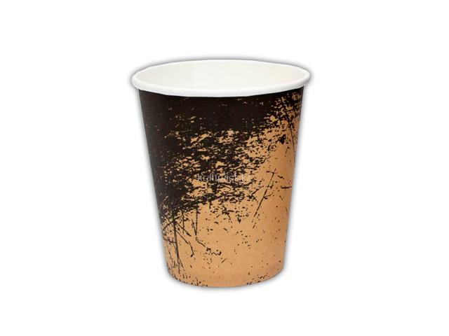 Стакан бумажный для горячих/холодных напитков Крафт Гранж 350 мл (12 OZ / D90) (50/1000)