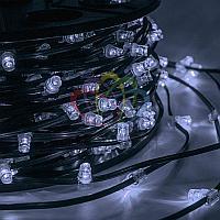 """Уличная LED гирлянда """"Клип-лайт"""" - 100 метров, 660 лампочек, белый свет, каждая 5 лампочка мерцает"""