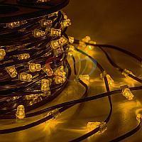 """Уличная LED гирлянда """"Клип-лайт"""" - 100 метров, 660 лампочек, желтый свет, постоянное свечение"""