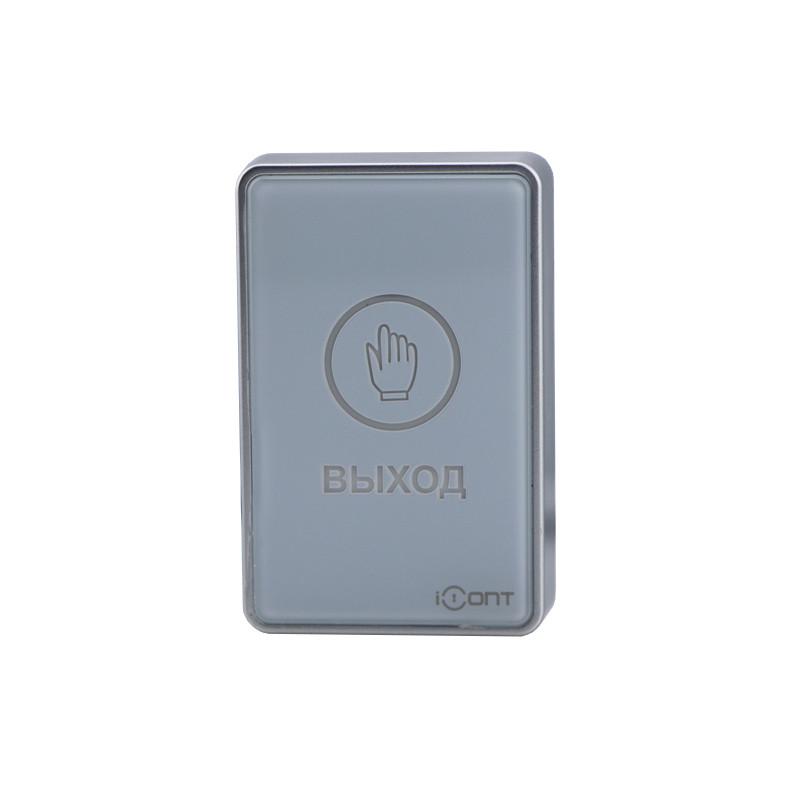 IBUTTON-05 BLACK Кнопка выхода накладная сенсорная из пластика с индикацией