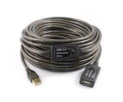 Кабель USB удлинитель 2.0 активный (USB активный шнур) 20 метров