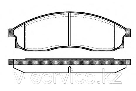 Тормозные колодки REMSA   469.00-AF