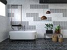 Кафель | Плитка настенная 28х40 Помпей | Pompei 7С панно белый, фото 3