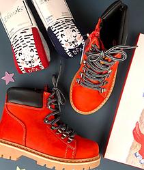 Ботинки тимбы бренд Minican Турция Красный, 36